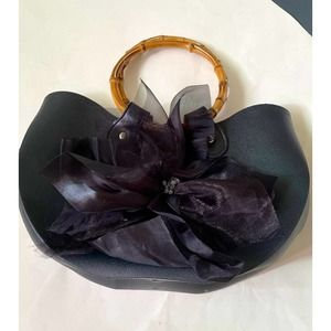 Bamboo54 Vegan Leather Black Purse Bag